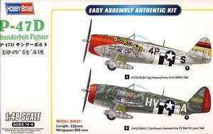 Hobby-Boss-P-47D-47-D-Thunderbolt-1944Fighter-30-RA-25RA-1-48-Modello-Kit