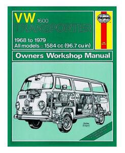 Haynes-1968-1979-VW-Bay-Window-T2-Workshop-Manual-1600-Transporter-Bus-Panel-Van