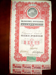 Jockey-Club-Montevideo-bond-1945-Uruguay