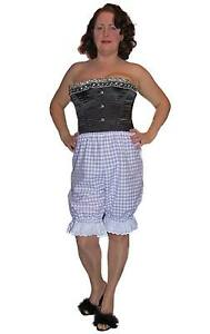Vintage-Traditional-Victorian-Style-Bloomers-Lilac-Gingham-White-Frill-Hem