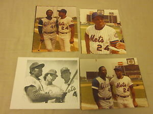 1972/73 Willie Mays New York Mets Original Napolitano Photos 4 Different