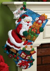 Bucilla-Gifts-from-Santa-18-Felt-Christmas-Stocking-Kit-86304-New-2012-Kit