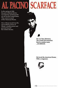 Scarface-Poster-Gloss-Laminated-New-Sealed-Free-UK-P-amp-P