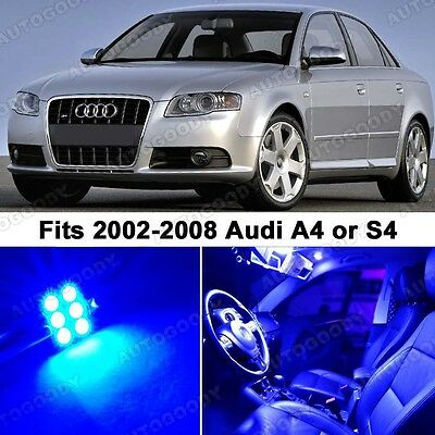 19 x Premium Blue LED Lights Interior Package Upgrade for Audi A4 2002-2008