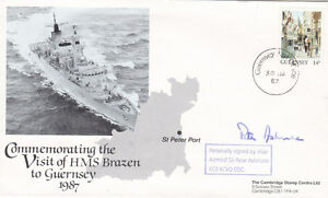 Visit-of-HMS-Brazen-to-Guernsey-Signed-by-Vice-Admiral-Sir-Peter-Ashmore