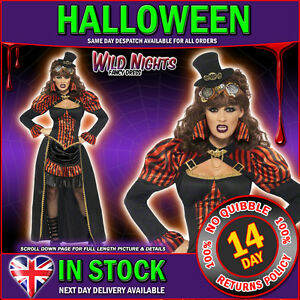 HALLOWEEN-FANCY-DRESS-LADIES-STEAM-PUNK-VICTORIAN-VAMPIRESS
