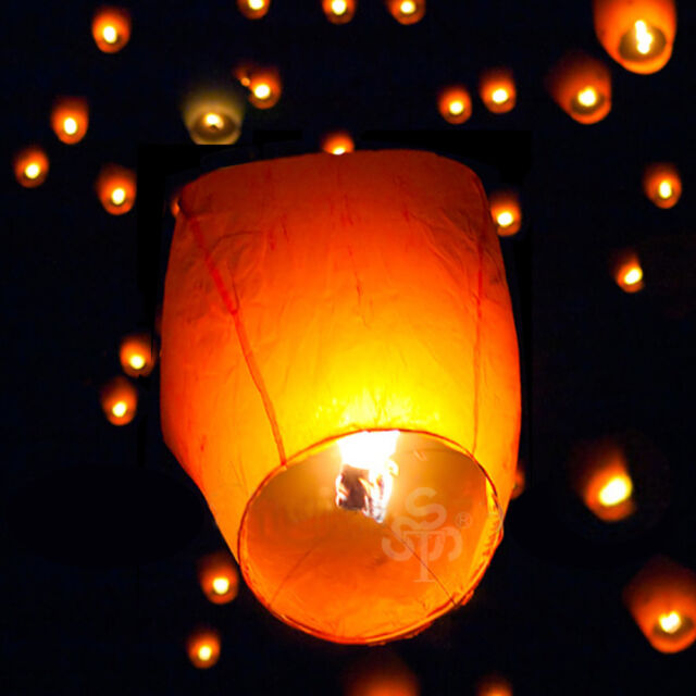 Chinese Paper Lanterns Sky Flying Party Festival Wedding Wishing Lights