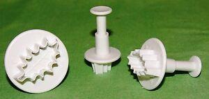 3-tlg-Stechpalme-Ausstechform-Fondant-Keks-Kuchen-Marzipan-neu