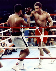 1974-Boxing-MUHAMMAD-Ali-amp-GEORGE-FOREMAN-8x10-Photo-Rumble-in-the-Jungle-Print