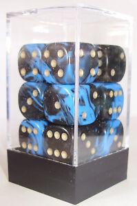 PACK-OF-12-OBLIVION-BLUE-DICE-6-SIDED-15mm-SIDES