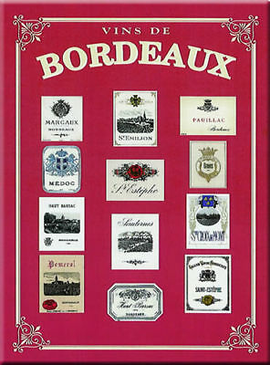 French Advertising Sign - Bordeaux Wine Vin Labels
