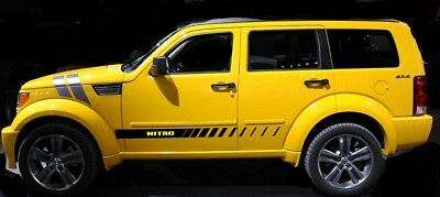 "Mid-Body Strobed ""FADER"" Stripes for Dodge Nitro Rocker Panel Stripes"