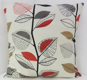 60s-STYLE-RED-BROWN-BEIGE-LEAF-DESIGN-CUSHION-COVERS