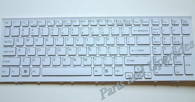 OEM SONY Vaio VPCEE21FX VPCEE22FX VPCEE23FX VPCEE25FX White Keyboard W/Frame NEW