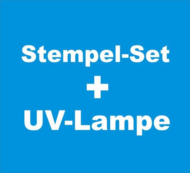 Stempelset + UV-Lampe // Stempel Belichten Set