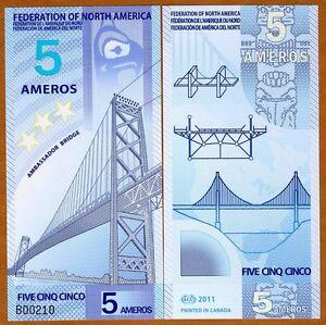 Federation-of-North-America-5-Ameros-2011-Polymer-New-UNC