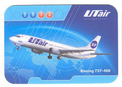 UTAIR Aviation Russian Airlines Boeing 737-400 Pocket Calendar 2012