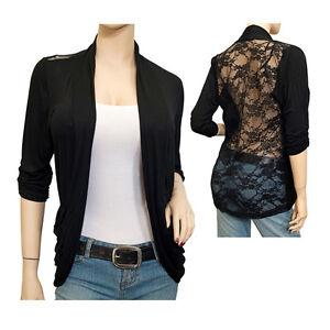 Jr-Plus-Size-Lace-Back-Open-Front-Cardigan-Black