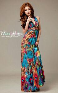 2012-Bohimian-folk-style-peacock-feather-fashion-long-dress-beach-skirt-004