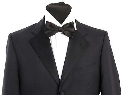 MJ - 15. Mens navy blue dinner suit - formal - tuxedo - evening