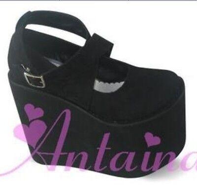 Punk gothic lolita cosplay Rocking horse shoes 9096-15 high platform