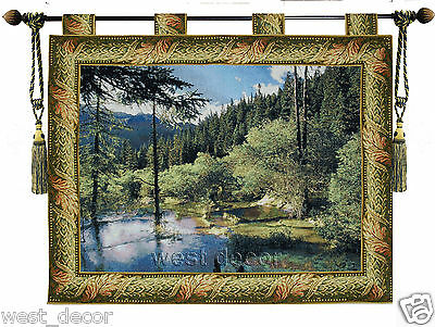 Large Beautiful  garden tree forest Fine jacquard woven Wall hanging Tapestry