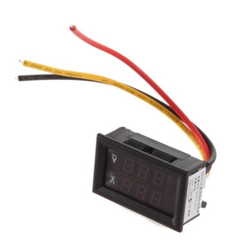 DC 4.5-30V 0-100A Dual LED Digital Voltmeter Ammeter Amperemeter Spannungsmesser