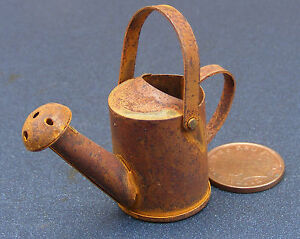 1-12th-Scale-Large-Rusty-Watering-Can-Dolls-House-Miniature-Garden-Accessory