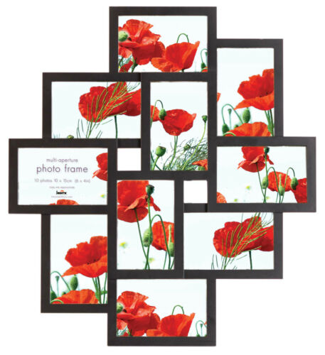Multi Aperture Photo Picture Frame - Holds 10 X 6''X4'' Photos