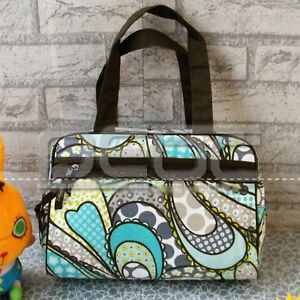 aa366447df64 New Thirty One Cosmetic Bag Cute Tote Bag In Boho Patchwork Paisley ...