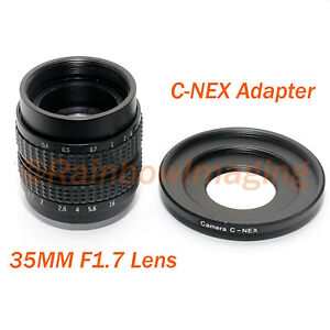 35MM F1.7 TV Manual Lens + Adapter for Sony NEX a6500 a6000 a5000 a3500 a3000