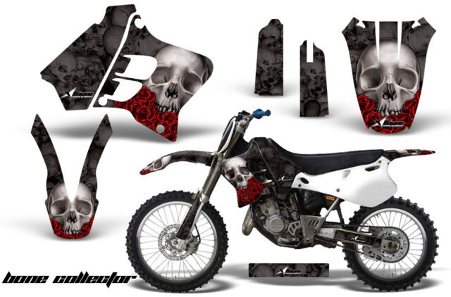 Dirt Bike Graphic Kit Decal Sticker Wrap For Yamaha YZ125 YZ250 93-95 BONES BLK