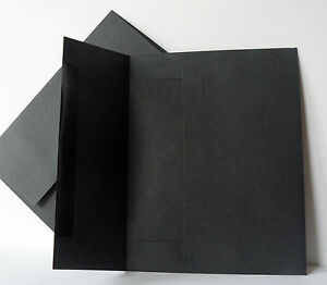 25-200 A8 premium black invitation announcement envelope 5-1/2x8-1/8 70#