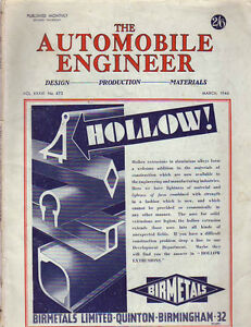 1946-Automobile-Engineer-March-Austin-Direct-injection-alcohol-Electric-Clutch