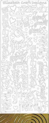 assorted PHRASES:  Starform outline Stickers, 1 sheet - Acid Free!