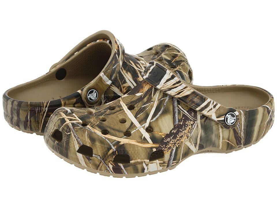 Crocs Beach RealTree Max-4 HD Camo Mens 16 ~ Women's 18 NWT NEW 2X Hunting