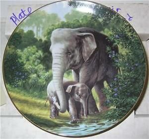 """WILL NELSON PLATE """"THE ASIAN ELEPHANT"""" 4TH ISSUE"""