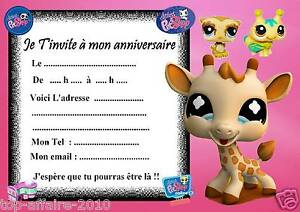 5 cartes invitation anniversaire petshop 06 d 39 autres - Petshop gratuit ...