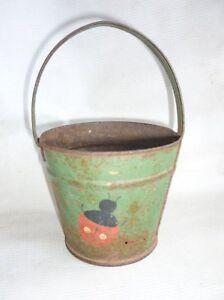 Antique Ladybug Iron Bucket Toy 1900`s
