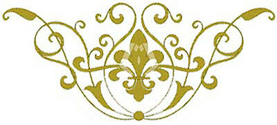 ViCToRiaN GoLD FLeuR de Lis ShaBby WaTerSLiDe DeCALs ~AnY CoLoR~