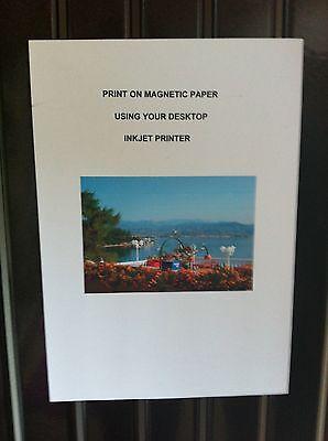 White Magnetic Inkjet Paper Gloss 160gsm A4 Fridge Magnet Sheets