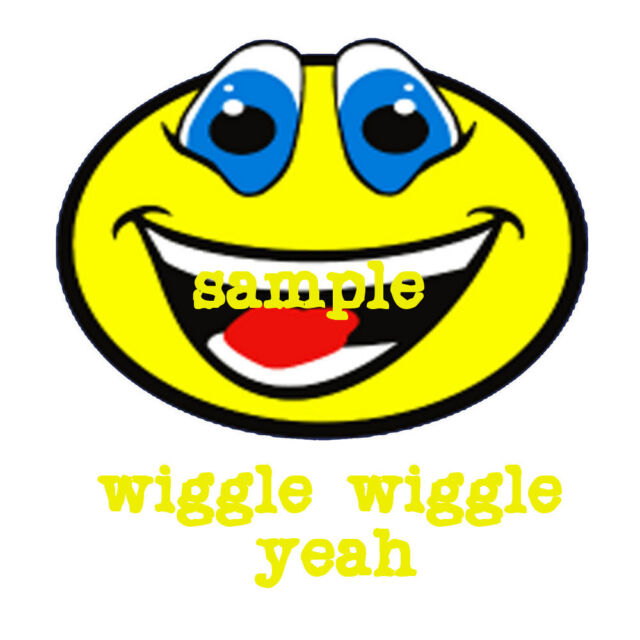 LMFAO SHUFFLING smiley  wiggle wiggle party rock iron on t shirt transfer