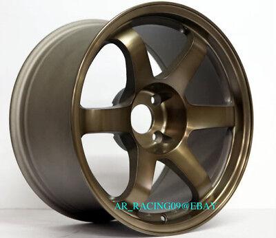 "17"" Rota Wheels 17x9 GRID 5x114.3 +42 BRONZE 06 07 08 09 10 11 Civic RSX TSX"