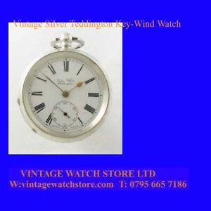 Pretty-Silver-amp-Enamel-Teddington-15J-Pocket-Watch-1861