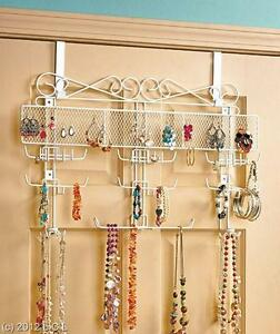 Over The Door Or Wall Mount Jewelry Valet Tangle Free