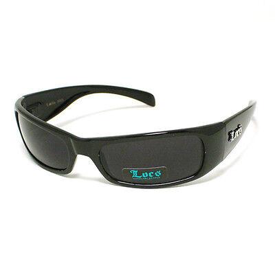 Locs All Black Classic Cholo Gangster Warp Biker Sunglasses