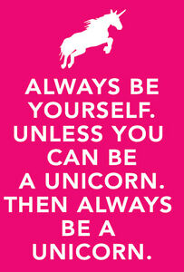 034-Unless-you-can-be-a-unicorn-034-Keep-calm-METAL-Wall-Sign-Plaque-poster-print-art