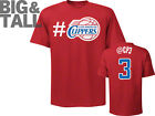 NBA Majestic Chris Paul Los Angeles Clippers 3 Twitter Big Sizes T-Shirt - Red (XXXX-Large) - 847662