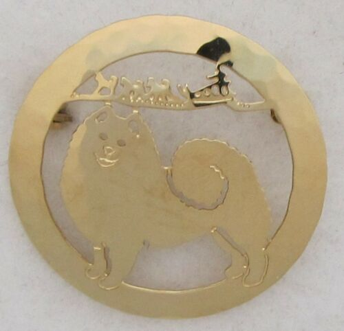 Samoyed Jewelry Large Gold Pin by Touchstone