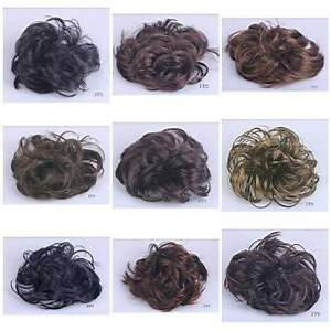 Hair-Wave-Ponytail-Holders-Scrunchy-Piece-Bun-Pony-Tail-Extensions-Hairpiece-FP